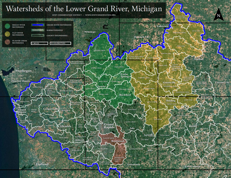 Kent-County-Michigan-Watershed-Map