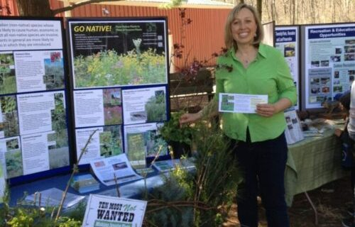 FREE PRESENATIONS_ HAVE KCD COME SPREAK TO YOUR NEIGHBORHOOD ASSOCIATION OR ORGANIZATION_Jessie invasive species booth Spring 2017